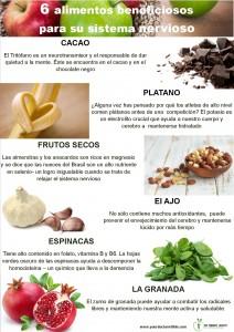 6 alimentos x el sistema nervioso