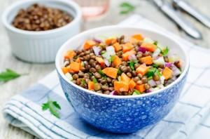 Ensalada lentejas y zanahorias